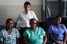 La dottoressa Naizaire e le infermiere Levasseur e Antoine insieme al dottor Andrea Dotta - Copia