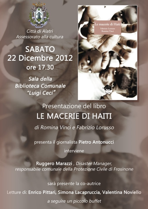 Alatri - Presentazione Le Macerie di Haiti